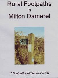 Rural Footpaths in Milton Damerel front cover